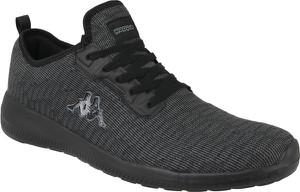 Czarne buty sportowe Kappa w sportowym stylu z tkaniny