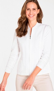 Bluza Olsen krótka z lnu w młodzieżowym stylu