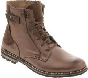 Brązowe buty zimowe butyolivier.pl sznurowane