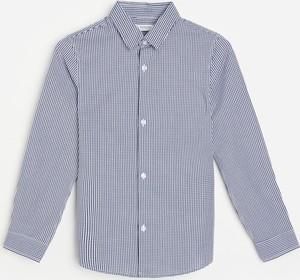 Granatowa koszula dziecięca Reserved dla chłopców w paseczki