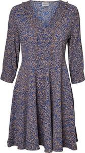Niebieska sukienka Vero Moda z długim rękawem