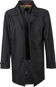 Czarny płaszcz męski Fay