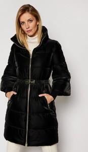 Czarna kurtka Guess by Marciano długa w stylu casual