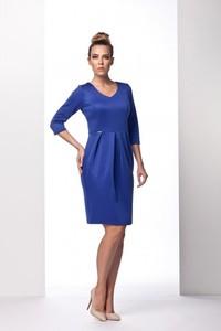 Niebieska sukienka TAGLESS mini z dekoltem w kształcie litery v tulipan