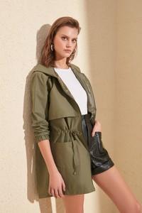 Zielona kurtka Trendyol w stylu casual