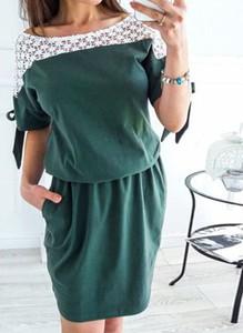 Zielona sukienka Arilook mini hiszpanka