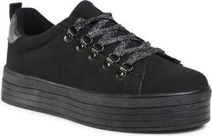 Czarne buty sportowe Jenny Fairy na platformie