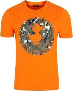 T-shirt Save The Duck z nadrukiem z krótkim rękawem z bawełny