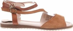 Sandały Apple Of Eden ze skóry z płaską podeszwą w stylu casual