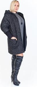 Granatowy płaszcz Fokus