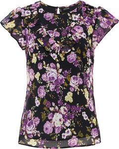 Bluzka bonprix z krótkim rękawem z okrągłym dekoltem