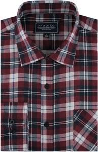 Koszula Pradizo z długim rękawem z tkaniny w stylu casual