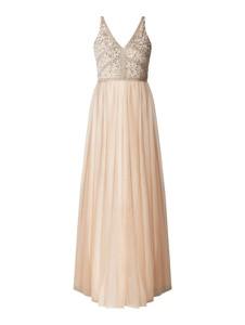 Sukienka Lace & Beads na ramiączkach z tiulu maxi