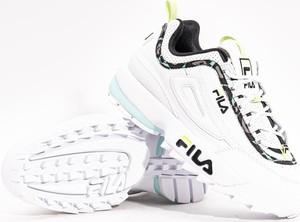 Buty sportowe Fila sznurowane z płaską podeszwą z zamszu