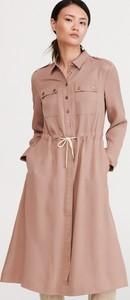 Różowa sukienka Reserved midi