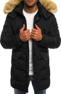 Czarna kurtka jack davis bez wzorów