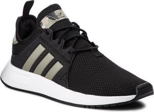 Czarne półbuty Adidas w sportowym stylu ze skóry ekologicznej