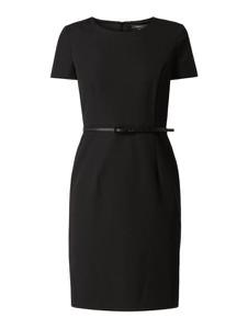 Czarna sukienka Montego z okrągłym dekoltem z krótkim rękawem w stylu casual