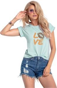 T-shirt Knitis z okrągłym dekoltem