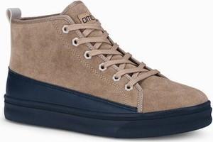 Ombre Buty męskie sneakersy T362 - beżowe
