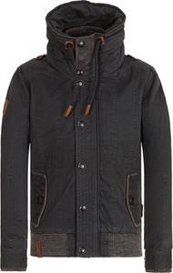 Czarna kurtka Naketano z bawełny w stylu casual