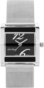 ZEGAREK DAMSKI GINO ROSSI - MIRIAM (zg542c) silver/black + BOX - Srebrny