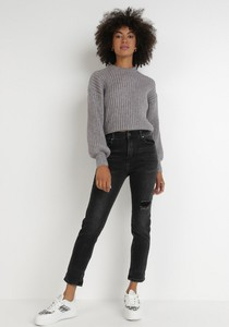 Czarne jeansy born2be w stylu casual