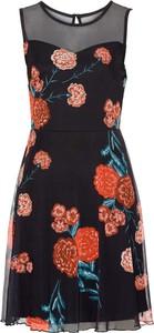 Bonprix bodyflirt sukienka z siatkowego materiału w kwiaty