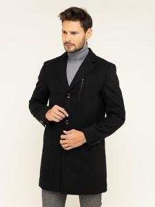 Czarny płaszcz męski Digel