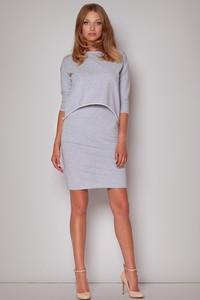 Sukienka Figl z bawełny z długim rękawem w stylu casual