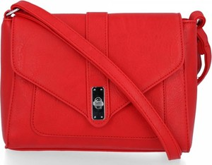 Czerwona torebka Bee Bag na ramię w stylu glamour