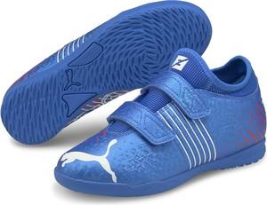 Niebieskie buty sportowe dziecięce Puma na rzepy dla chłopców