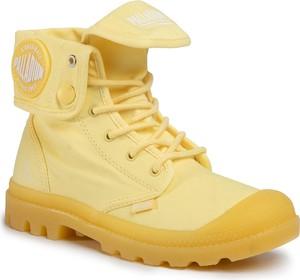 Żółte trapery damskie Palladium