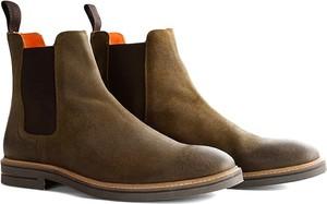 Brązowe buty zimowe Travelin' ze skóry