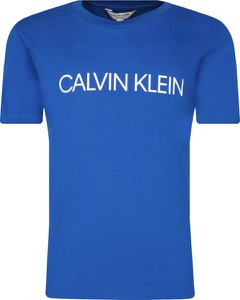 Niebieska koszulka dziecięca Calvin Klein