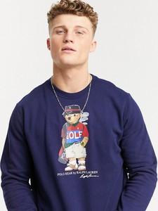 Granatowa bluza POLO RALPH LAUREN z nadrukiem w młodzieżowym stylu