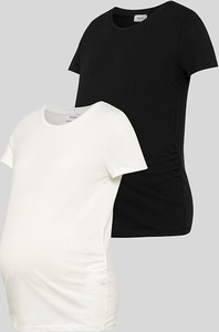 YESSICA C&A Ciążowy T-shirt-2 szt., Czarny, Rozmiar: XS