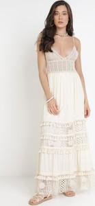 Sukienka born2be trapezowa z dekoltem w kształcie litery v maxi
