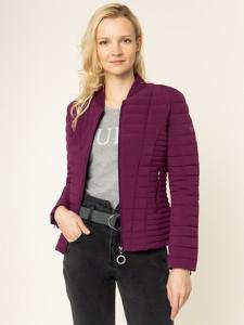 Fioletowa kurtka Guess w stylu casual krótka