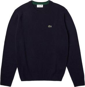 Sweter Lacoste w stylu casual z okrągłym dekoltem
