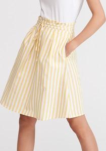 Żółta spódnica Reserved midi w stylu casual
