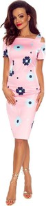 Różowa sukienka Bergamo w stylu casual midi
