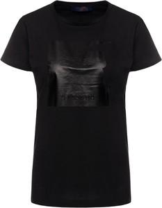 T-shirt Trussardi Jeans z okrągłym dekoltem z nadrukiem