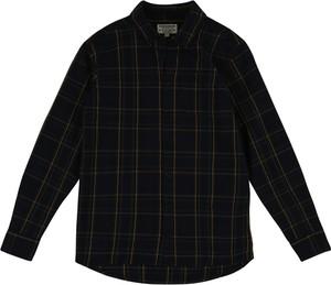 Czarna koszula dziecięca Review For Teens z bawełny w krateczkę