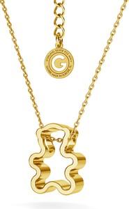 GIORRE SREBRNY NASZYJNIK MIŚ 925 : Kolor pokrycia srebra - Pokrycie Żółtym 24K Złotem