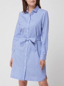 Niebieska sukienka Christian Berg koszulowa z bawełny z długim rękawem