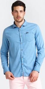 4071fa8650c47 Koszula Guess z długim rękawem z jeansu z klasycznym kołnierzykiem