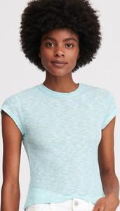 Turkusowy t-shirt Reserved z krótkim rękawem w stylu casual