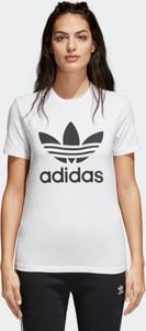 T-shirt Adidas z bawełny z nadrukiem