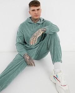 Zielona bluza Asos z tkaniny w młodzieżowym stylu